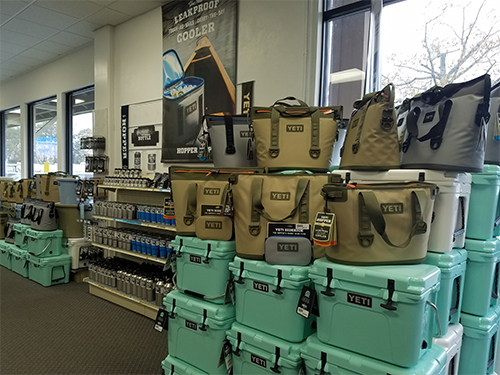 Yeti Cooler display